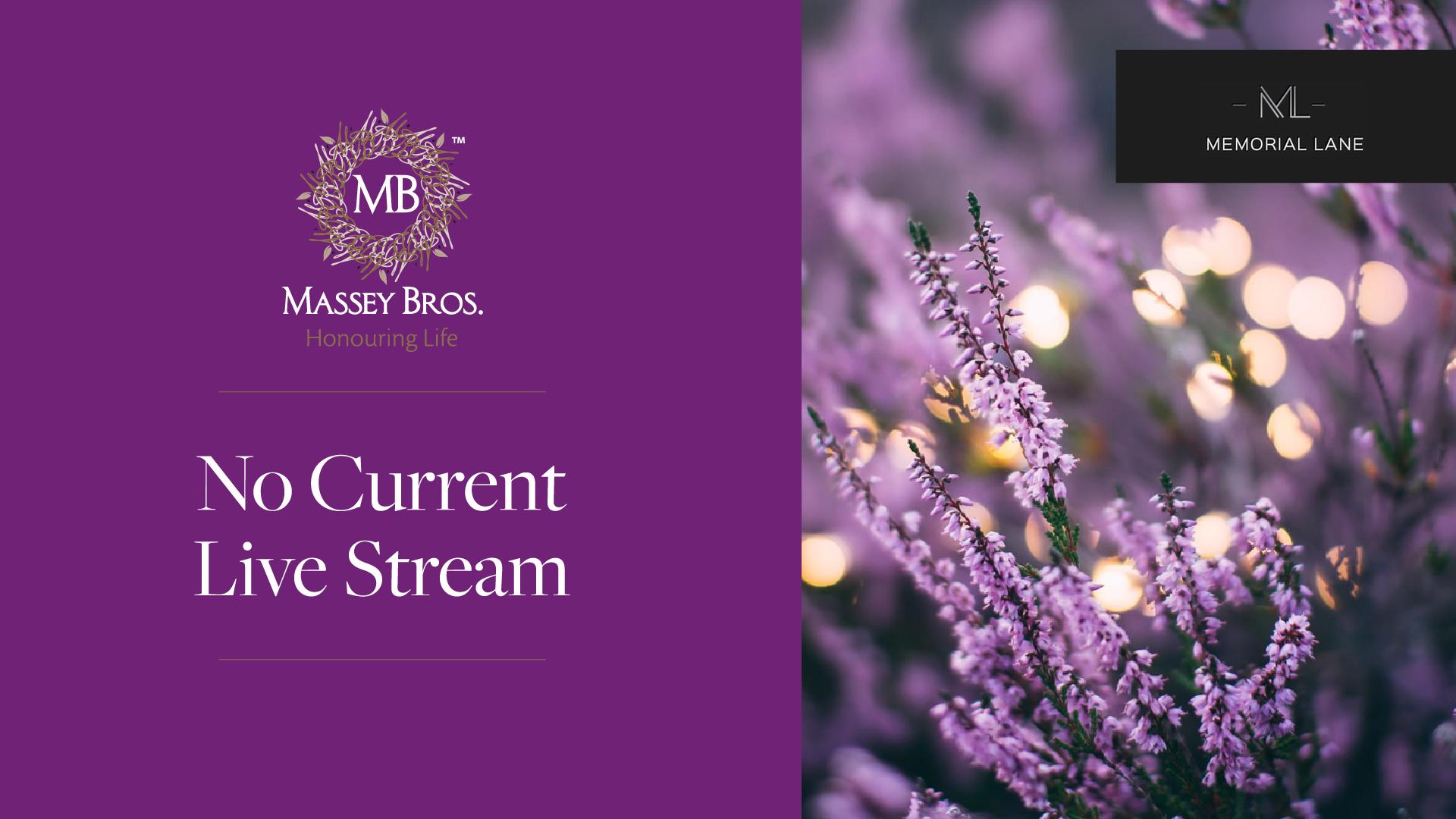 No Current Livestream