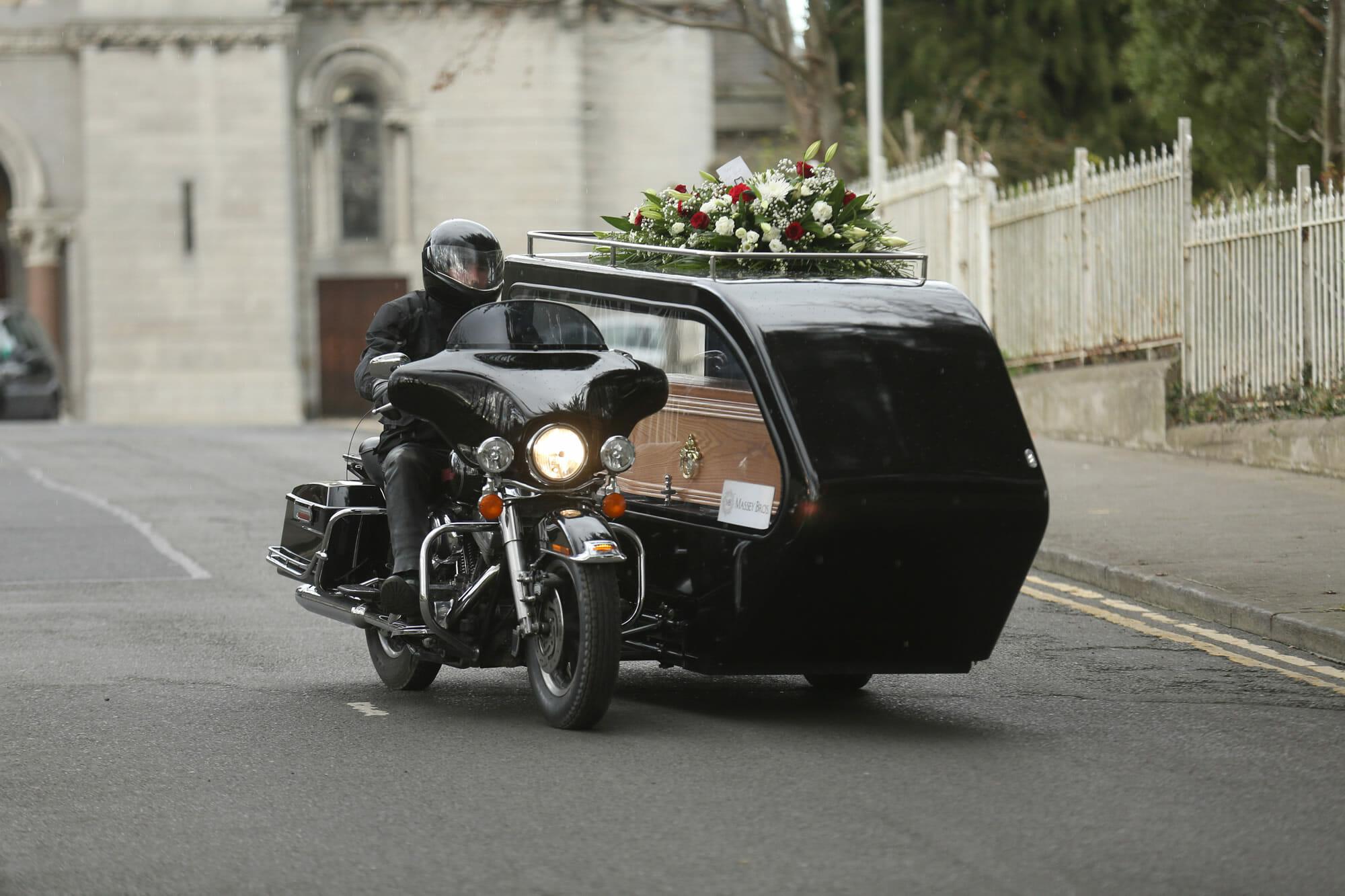 Harley Davidson Motorbike Hearse Dublin