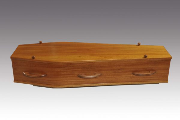This option is recommended for cremations. Crucifix available; standard white premium lining.