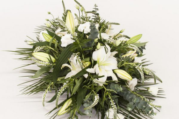 An elegant arrangement of Lilies, Roses, Gypsophila and Carnations. from €150.