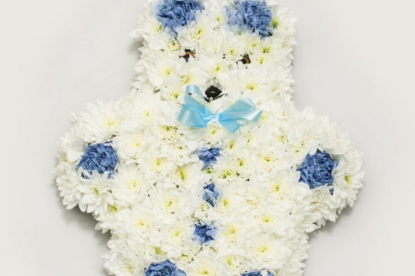 A Teddy Bear created out of Carnations and Chrysanthemums. From €85.