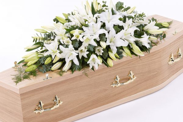 An elegant arrangement of Lilies, Roses, Gypsophila and Carnations. From €350.